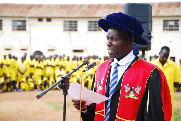 "Freddie Semukono, Dean Faculty of Management represented the principal MUBS was the ""Chancellor"""