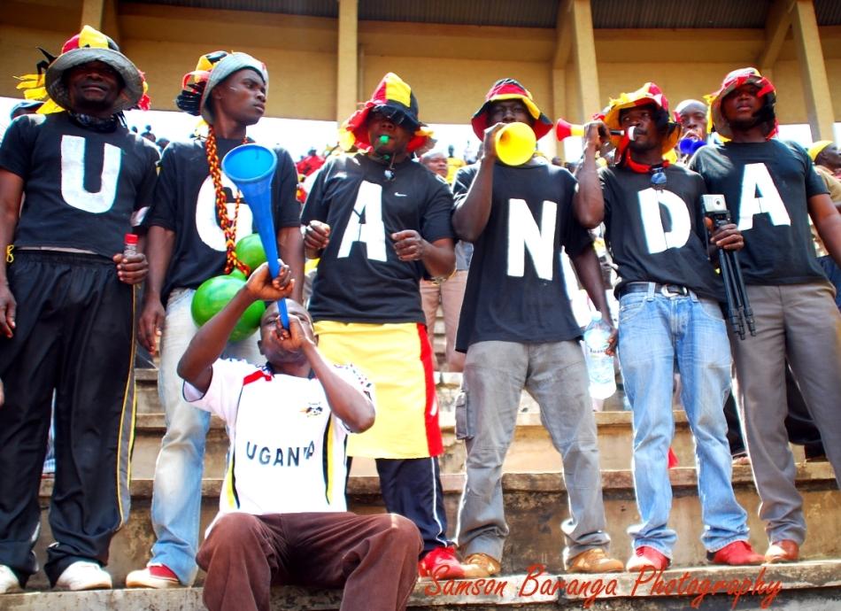 Uganda Cranes fans during the last game at Mandela National Stadium Namboole. Uganda won Guinea Bissau by 2:0