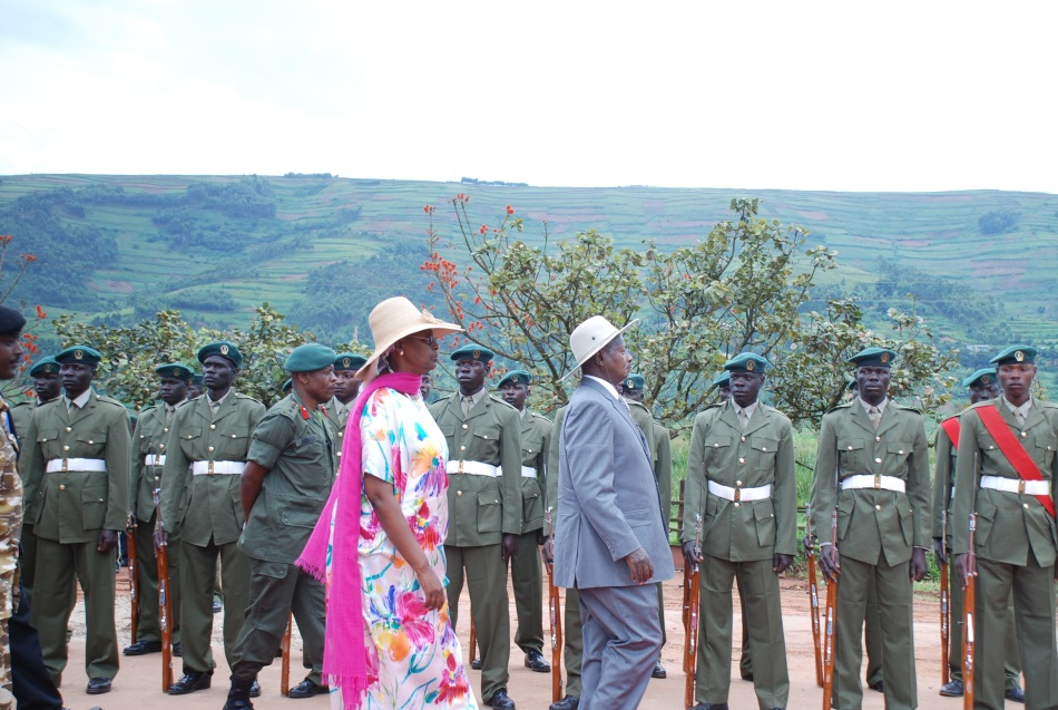 President Museveni and the first lady arrive